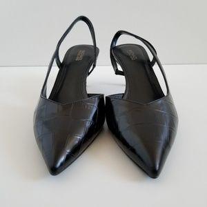 9c85c8eac31 Michael Kors Shoes - Michael Kors Eliza Flex Kitten-Heel Embossed Pumps
